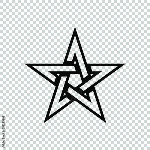 pentagram star icon flat vector Canvas Print