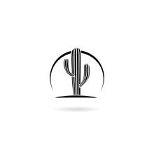 Cactus Icon Isolated On White Background