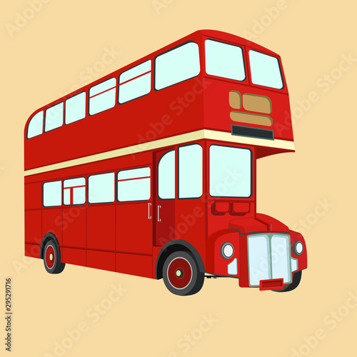 Fotomural Double decker bus from England