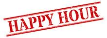 Happy Hour Stamp. Happy Hour S...