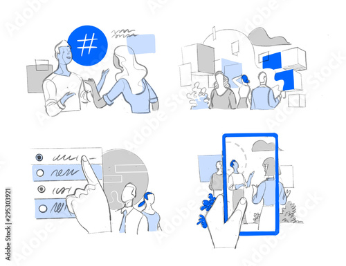 Fototapeta Digital devices presence in modern society life
