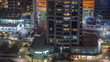 Residential and office buildings in Jumeirah lake towers district timelapse in Dubai