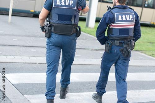 Cuadros en Lienzo Police asvp sécurité