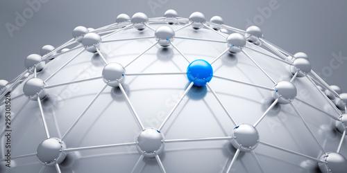 Cuadros en Lienzo Globales Netzwerk - 3D illustration