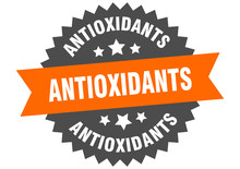 Antioxidants Sign. Antioxidants Orange-black Circular Band Label