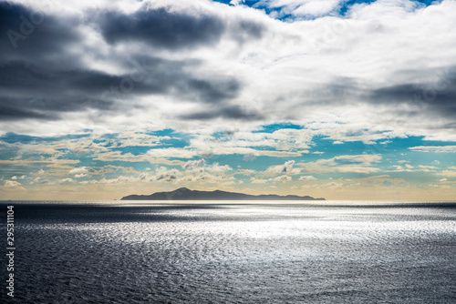 Cloudscape at sunset of the coast of East Attica in Greece Wallpaper Mural
