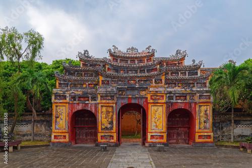 Obraz na płótnie Cua Tho Chi gate in Purple Forbidden city (Imperial Citadel) in Hue, Vietnam