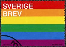 SWEDEN - 2016: Shows Pride Flag, 2016