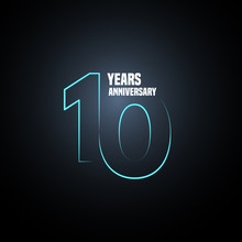 10 Years Anniversary Vector Lo...