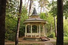 Cozy Exotic Wooden Pavilion In A City Park To Enjoy Your Personal Time