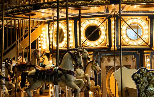 carousel light Fototapet