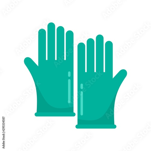 Forensic lab gloves icon Wallpaper Mural