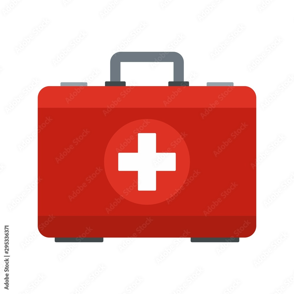 Fototapeta First aid kit icon. Flat illustration of first aid kit vector icon for web design