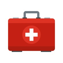 First Aid Kit Icon. Flat Illus...