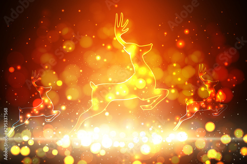 abstract christmas background - 295337568