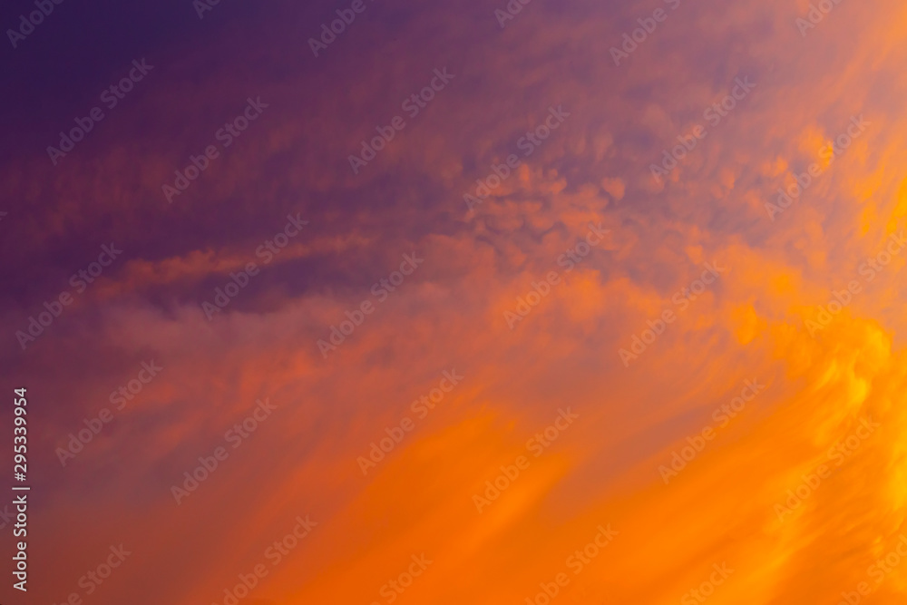 Fototapety, obrazy: Beautiful red clouds in the sky at sunset. Nature background.
