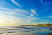 Sunset On The Beach Santa Mari...