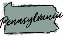 Hand Drawn Pennsylvania State Design