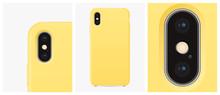 Mockup Yellow Silicone Case Fo...