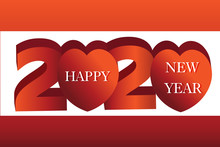 2020 Happy New Year Banner, He...