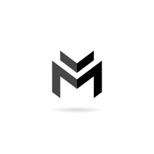 M Letter Logo Design Illustrat...