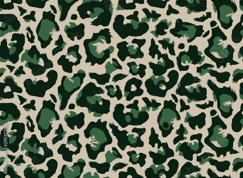 Seamless leopard all over repeat pattern Fototapeta