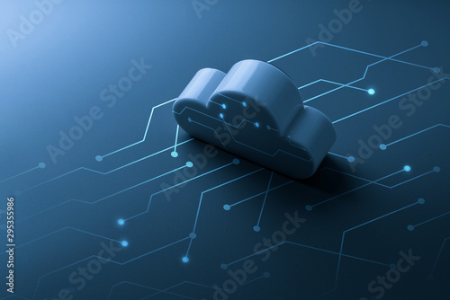 Cloud technology icon for online shopping global business concept