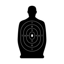Man-shaped Shooting Target For Practice On A Rifle Range.
