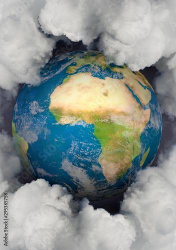 Fotografie, Obraz Erde & Emissionen, Hochformat
