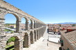 Aqueduct historical architecture Roman ruin Segovia Spain