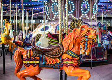 Decorative Horse In Colorful Carousel