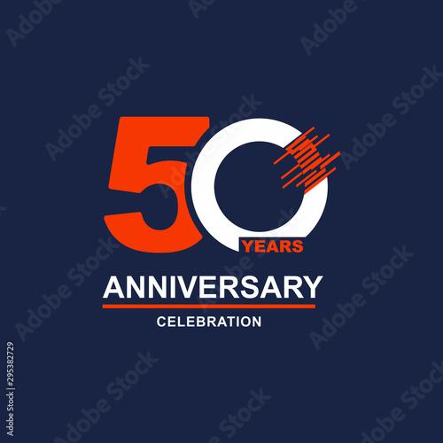 Fotografia  50 Year Anniversary Vector Template Design Illustration