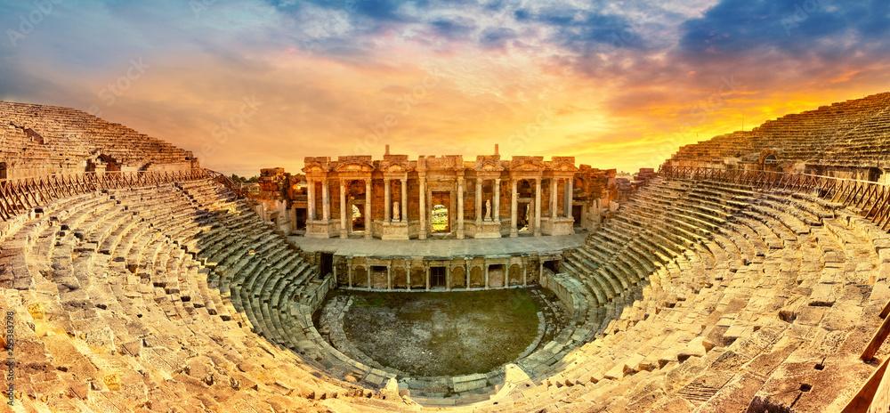 Fototapeta Amphitheater in ancient city of the Hierapolis