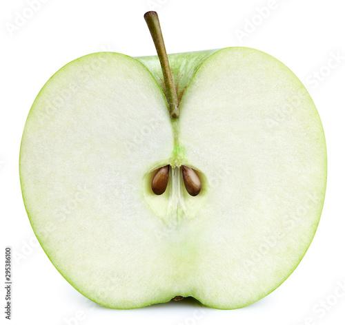 Fotografía Half green apple isolated on white background