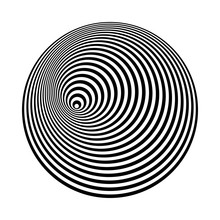 Concentric Lines Art. Abstract...