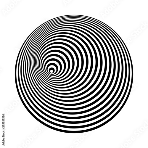 Fotomural  concentric lines art. abstract shapes background