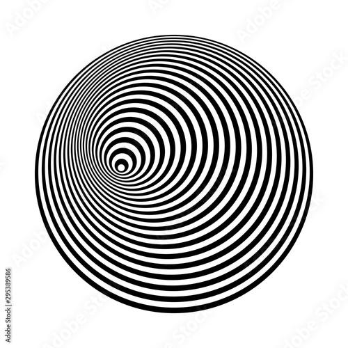 Fototapeta premium koncentryczne linie sztuki. abstrakcyjne kształty tła