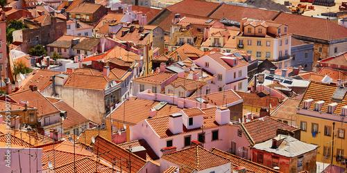 Vászonkép Aerial scenic view of central Lisbon, Portugal