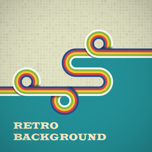 Retro Background With Rounded ...