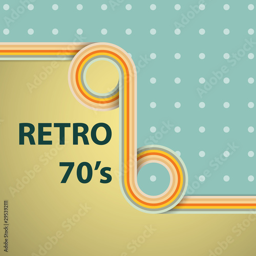 Abstract 1970's style background, cover, wallpaper, pattern and retro colors Wallpaper Mural