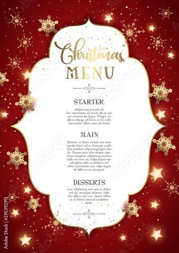 Decorative Christmas menu design