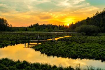 Fototapeta Popularne Warm Sunset