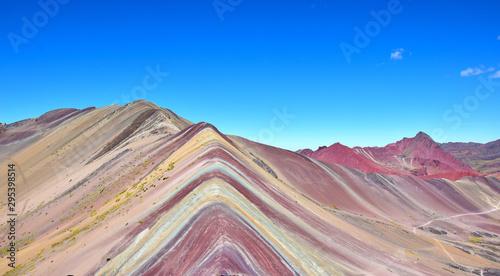 Tęczowa góra blisko Cusco, Peru