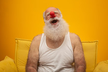 Happy Old Man With A Red Nose....