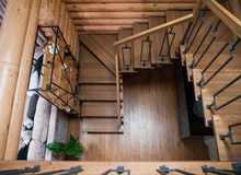 Interior Of Wooden House - Sta...