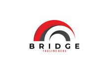 Bridge Logo Icon Vector Isolated
