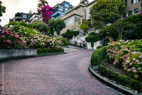 Recess Fitting Lavender Lombard Street San Francisco City Life
