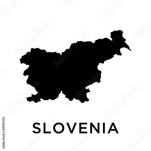 Photo Slovenia map vector design template
