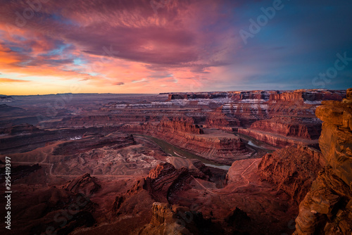 Poster Crimson sunset in grand canyon