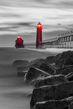 Selective Color Red Lighthouse...